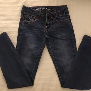 Girls Sz 8 Guess Blue Daredevil Skinny Leg Jeans